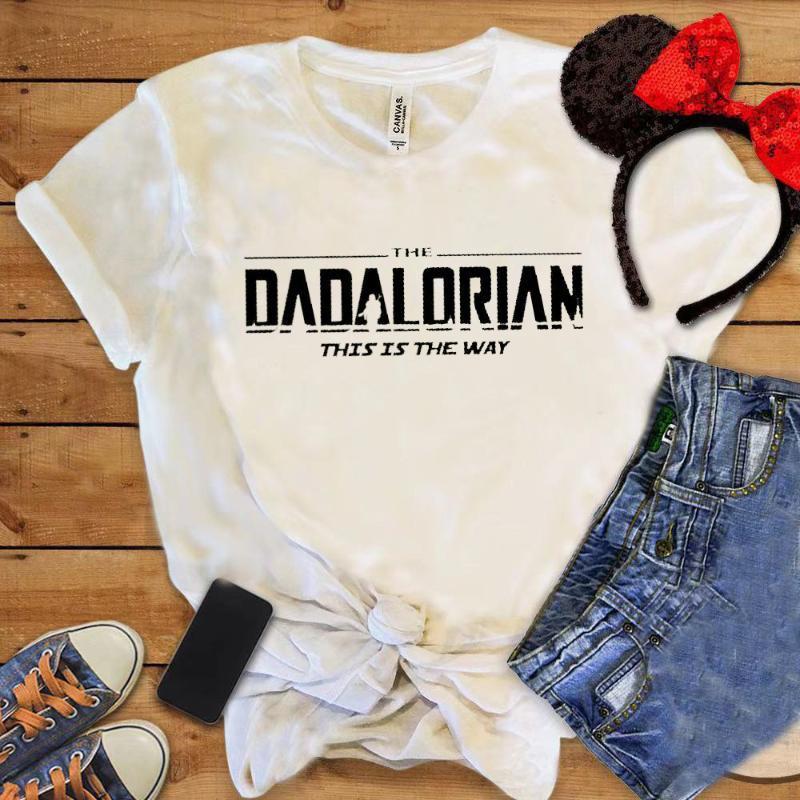 Chemise de la fête des Père Dadalorian drôle T-shirt Fashion Trebding Hommes Vêtements Casual Cadeau Casual Cadeau pour Dad Topstee T-shirts pour hommes