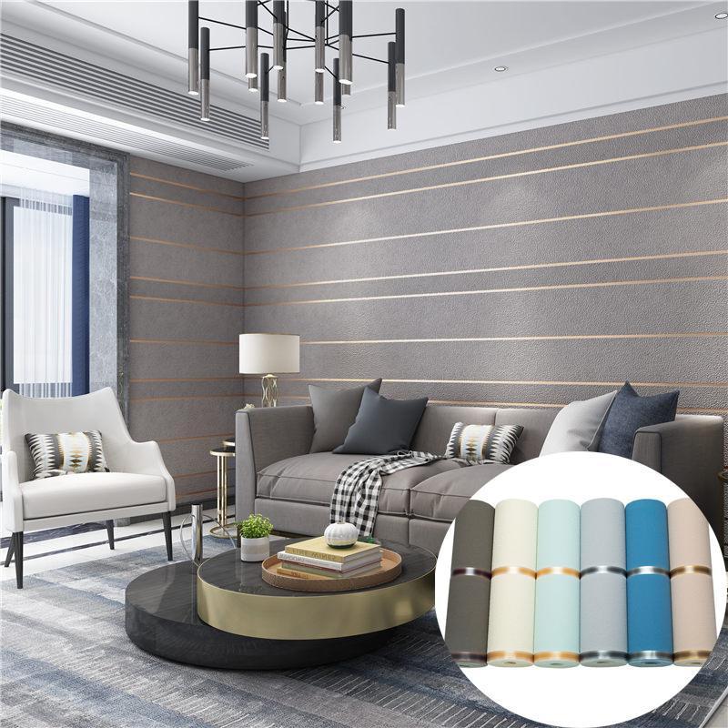 Papel de parede para o quarto Tecido Têxtil Wallcoverings Casa Juvenil Luxo Sala de Luxo Decoração 3D Deerskin TV Wall Salon Decor Wallpapers