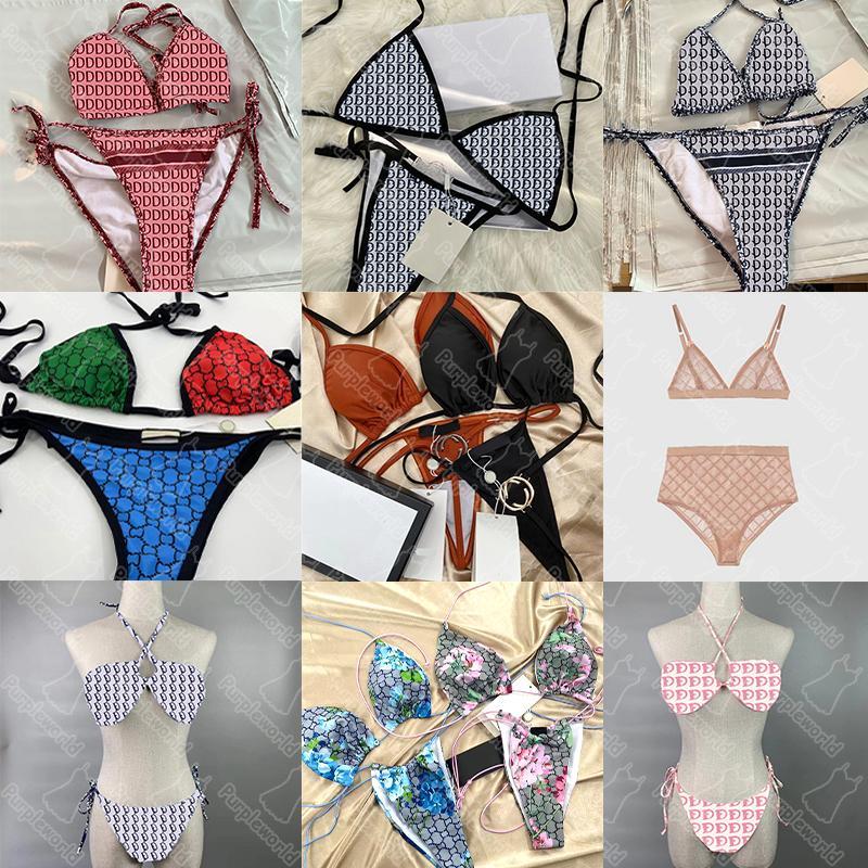 Senza scatola donna sexy costume da bagno swinwear estate più nuovo stampa signora due pezzi marca bikini 25 modelli ragazze abbigliamento da spiaggia elasticizzato