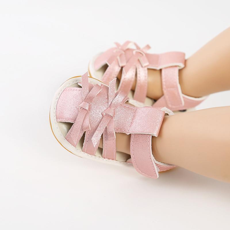 태어난 아기 통기성이 아닌 유아 유아 신발 여름 귀여운 소녀 Bowknot 천으로 부드러운 유아 유아 # P30 첫 번째 워커