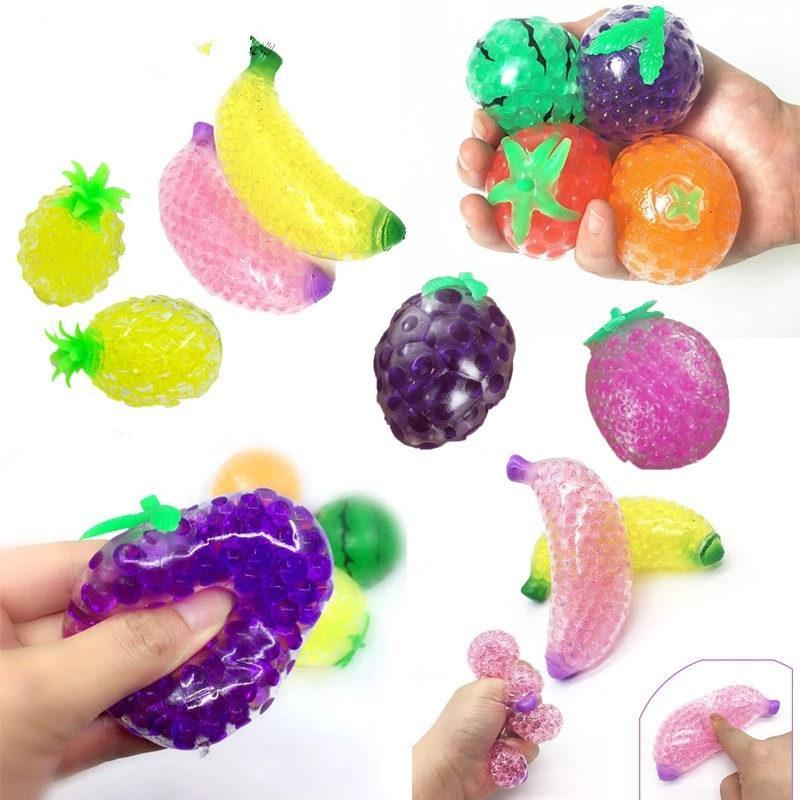 ¡Envío DHL! Cosas de agua de la jalea de frutas Funny Stress Relefante para niños adultos novedad Anti-ansiedad Alivio de estrés Squeeze Squishy Ball Juguete