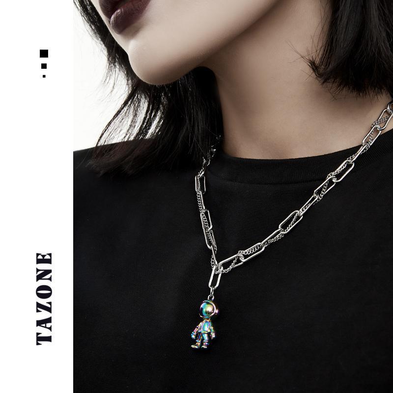 Chains Men/Women Creativity Space Astronaut Robot Bubble Dog Pendant Necklace Hip-hop Street Personality Punk Jewelry Selling