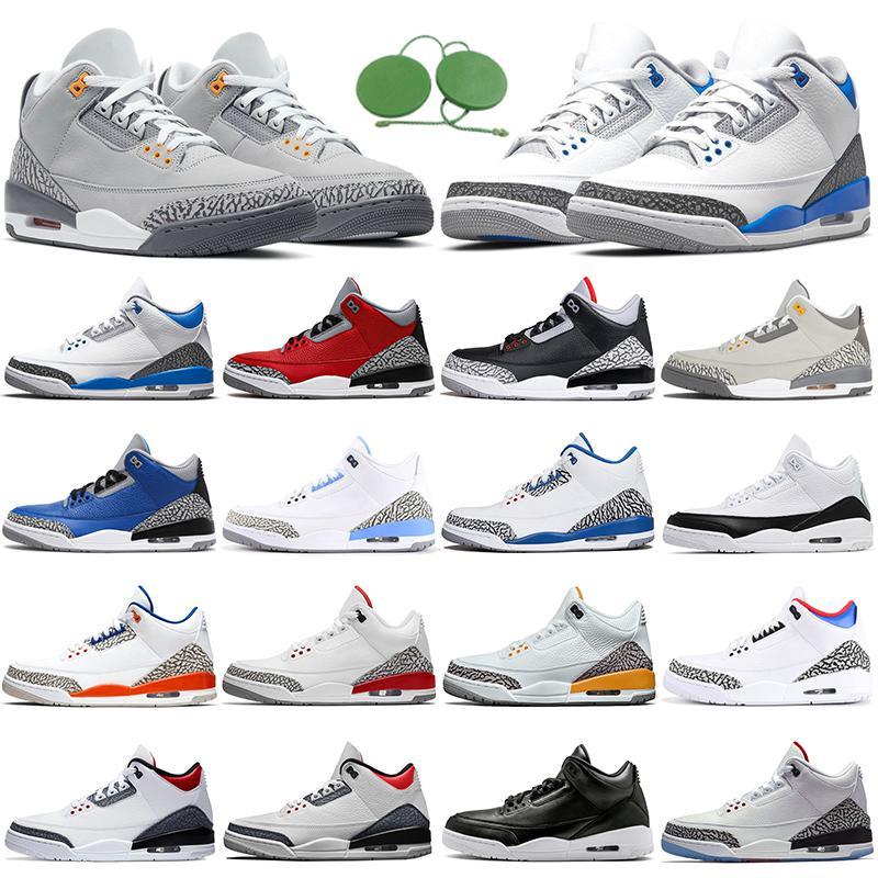 Air Jordan 3 3s Баскетбольные туфли jumpman aj3 гонщик синий крутой серый ржавчина розовый katrina tinker jth черный цемент спортивные кроссовки мужские кроссовки