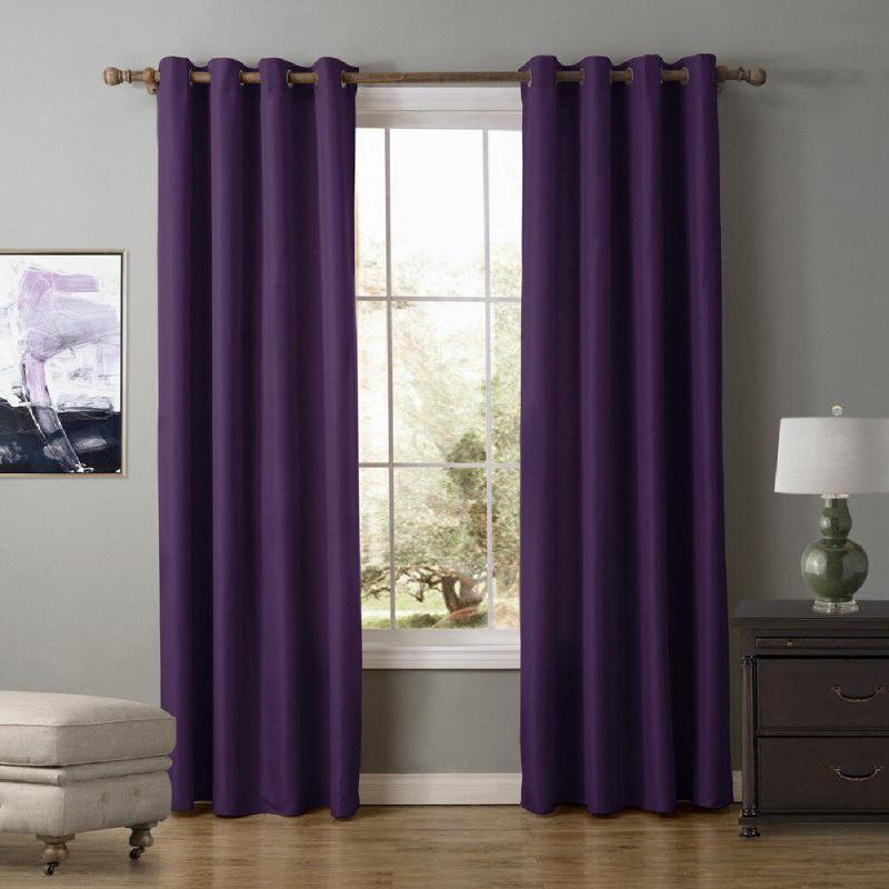 Vorhangdrapes 1 stücke Blackout Vorhänge Oxford Tuch für Schlafzimmer Wohnzimmer