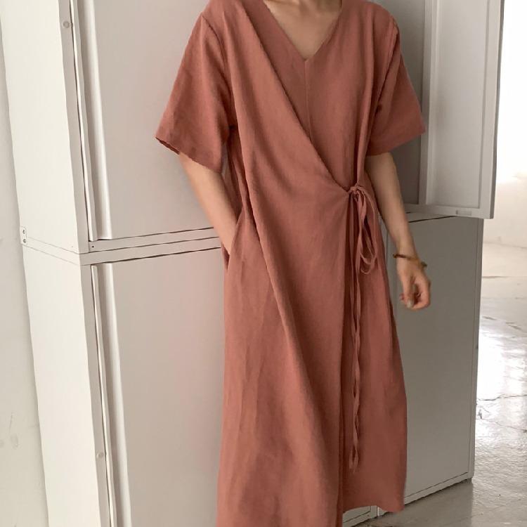 Vestidos elegantes elegantes de Corea del Sur de coreanos encaje en verano 2021