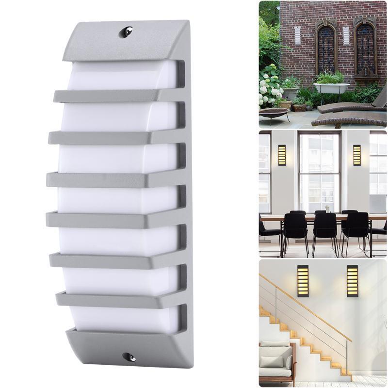 벽 램프 현대 COB LED 라이트 방수 알루미늄 AC 85-265V 야외 안뜰 정원에 대 한 Porch Corridor 램프