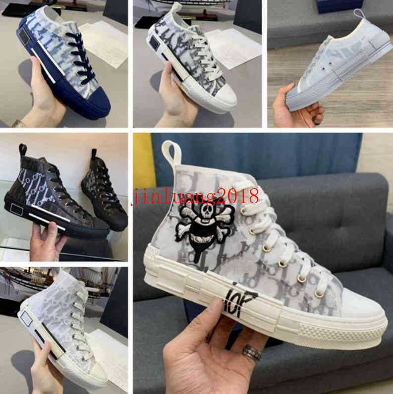 Christian Dior D'Or 2021 zapatos deportivos B23 Diagonal High High Men and Women Sneakersb24 Technical Canvas Cuero Casual Shoe's Bee Top TOP TOP