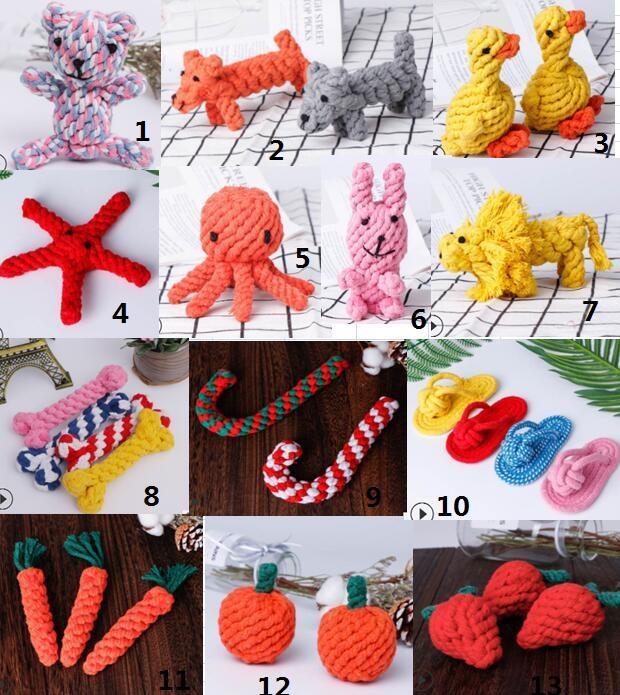 Animais de estimação cães algodão corda mastigas brinquedo colorido colorido durável cordas ósseas engraçadas cão engraçado gato limpeza dentes brinquedos