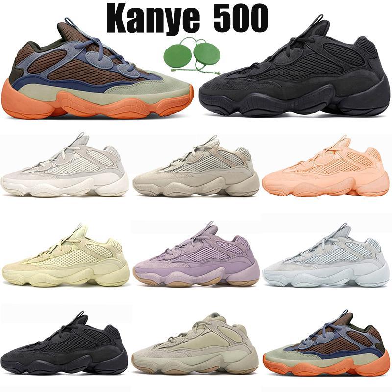 حذاء الجري kanye 500 للرجال والنساء بلون أحمر الخدود الملحي باللون الأبيض والملح وحجر اللافندر فائدة أسود القمر الأصفر أحذية رياضية للرجال أحذية رياضية للعدائين للركض