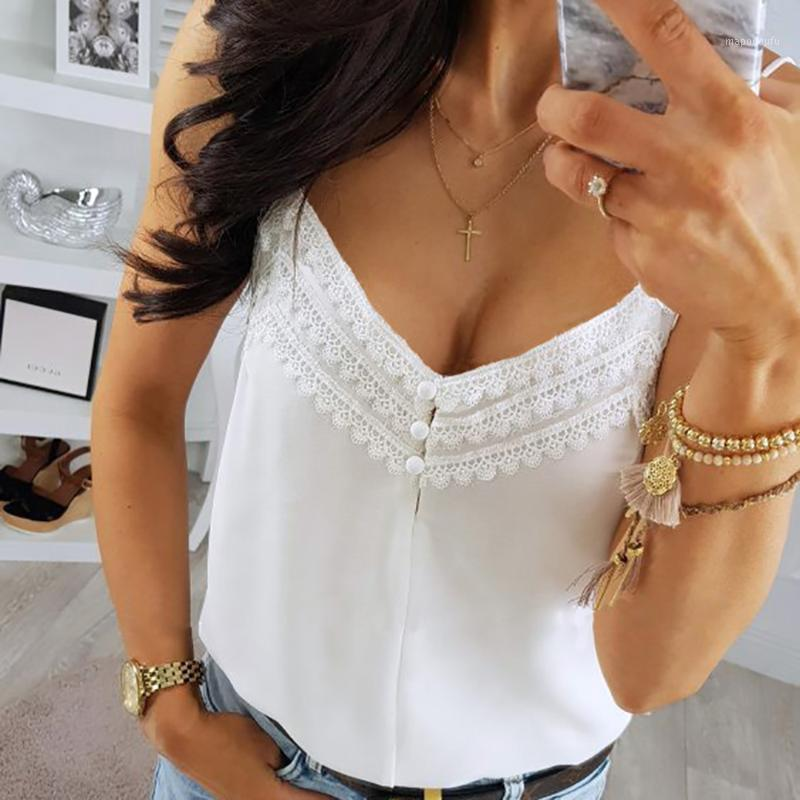 Womens Lace Camis Casual Top Ladies Backless Game Game PATCH PATCH V Collo Allentato Bralette Bustier Estate Casual Fashion Donne Camisole1