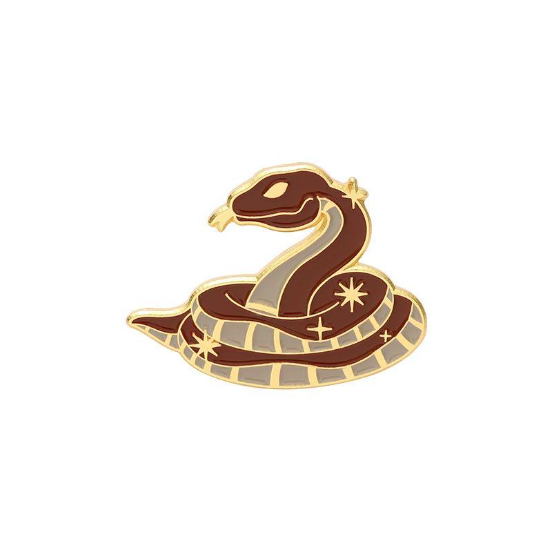 Emamel Broches Pin Pour Femmes Robe De Mode Manteau Demin Metal Métal Drôle Broche Pinches Badges Promotion Cadeau Nouveau Design Wolf Snake Animal 744 Q2