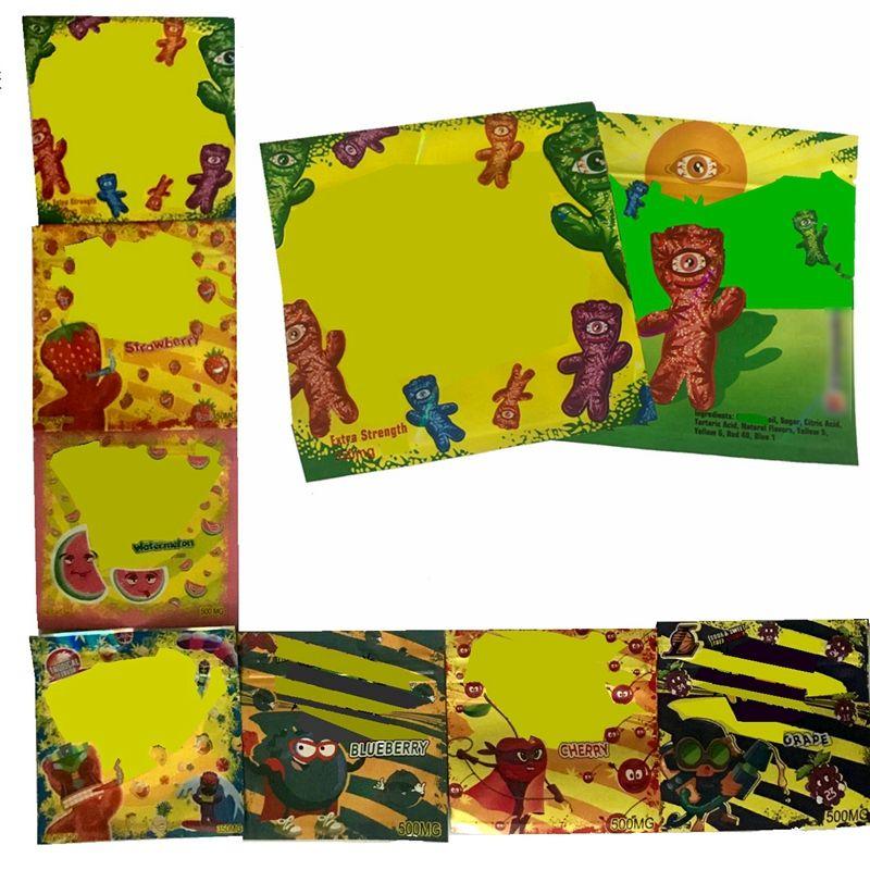 In magazzino vendita di borsetta edibles edibles 500mg vuoto richiudible packaging rognoso 350 mg gummies mylar cerniera sacchetti di plastica odore a prova di stampa personalizzata pacchetti di stampa personalizzati baggys