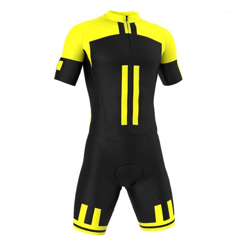 Hommes Triathlon costume SpeedSuit Jumpsuit Tout en un cyclisme Skinsuit Ropa Ciclismo Maillot Maillot Jerseys Kit de vêtements1