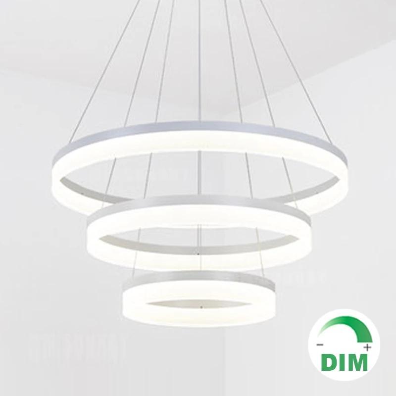 Für Restaurant Foyer Schlafzimmer Pendelleuchte Esszimmer Droplight Modern Rundring Rundring Rundkreis PMMA Acryl LED Kronleuchter Licht Hängelampe