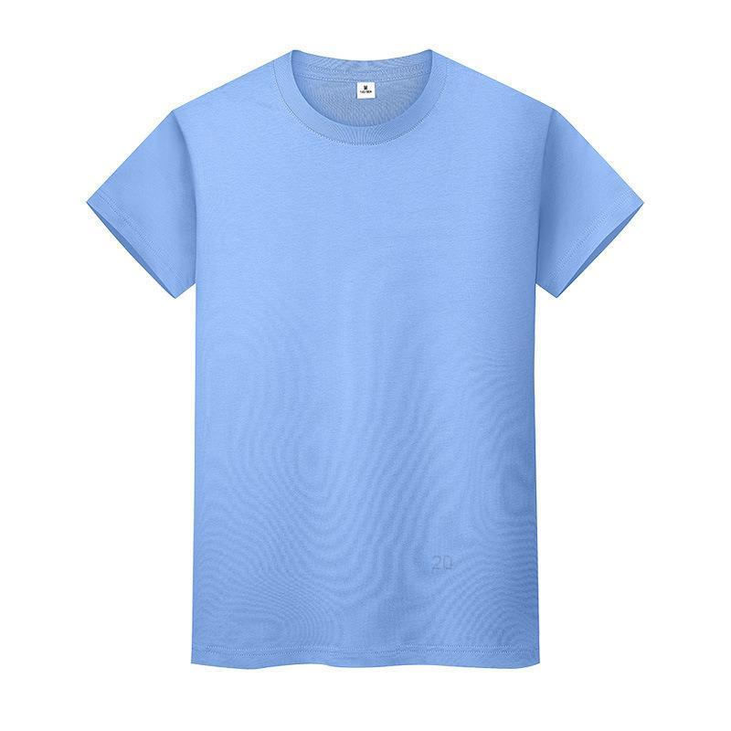 Novo pescoço redondo t-shirt de cor sólida verão camisa de fundo de algodão de mangas curtas e mulheres meia-manga fwpdi