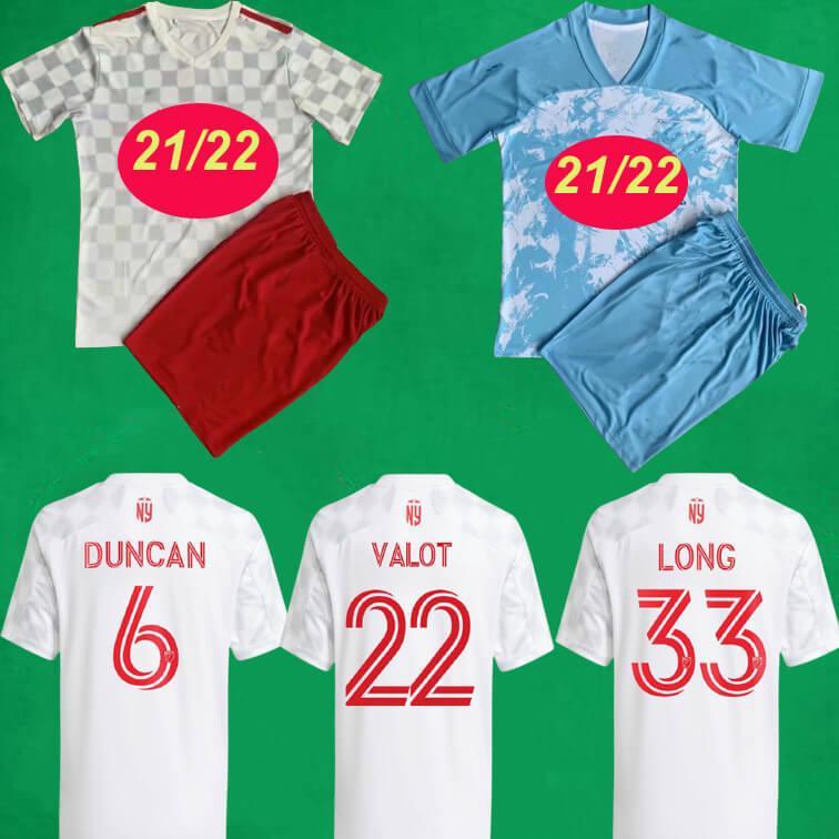 2021 New York Red Soccer Jerseys Long Bulls Barlow Davis Clark Cassers JR Football Kits 21 22 Mls Inter Miami CF Herren Kinder Shirts Atlanta United Sets Maillot de Foo