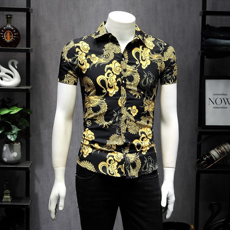 2020 camisa de manga corta Qiantang Blue Fake Model C1210