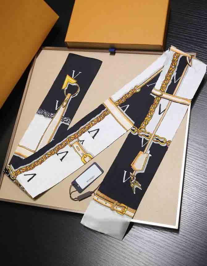 2021 Fashion Fabband Bandand Donne Donne Sciarpa Seta Lunga Quadrato Elegante Semplice Retro Sciarpe Retro 120 * 80 cm