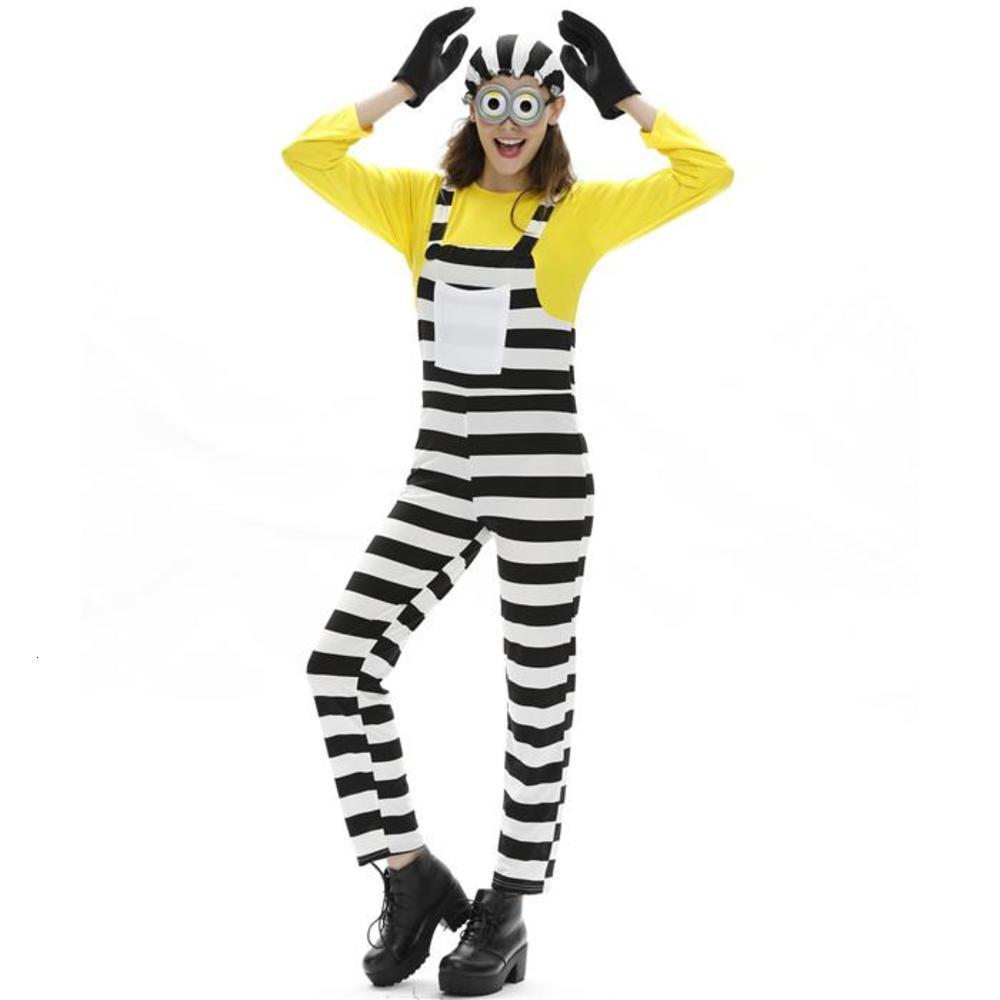 코스프레 긴 소매 모자 장갑 여성 망 의류 패션 스타일 만화 캐주얼 의류 할로윈 디자이너 미니언