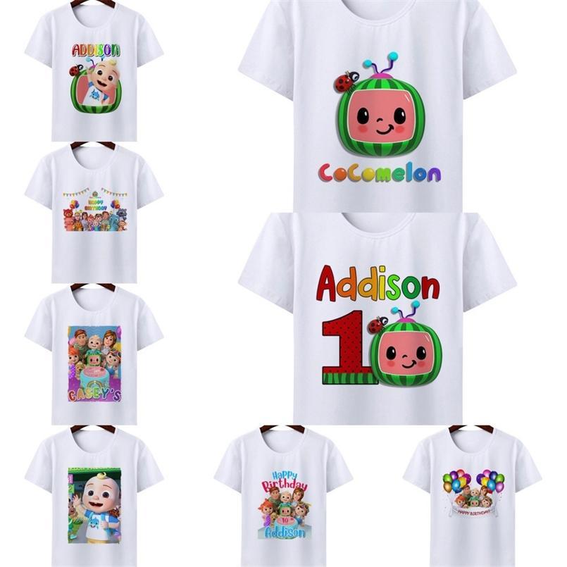CoComelon Printed JJ Boys And Girls Cartoon Short Sleeve T-shirt Fashion Summer Baby Tess Tops T Shirt Casual Children's Clothes G336676