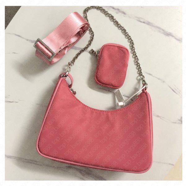 Luxusdesigner Marke Top Qualität 3 Stück Nylon Schulter Hobo Bag Reediton 2005 mit Sn Tag Kiste Multi Pochette Kleine Frauen Taschen Geldbörse