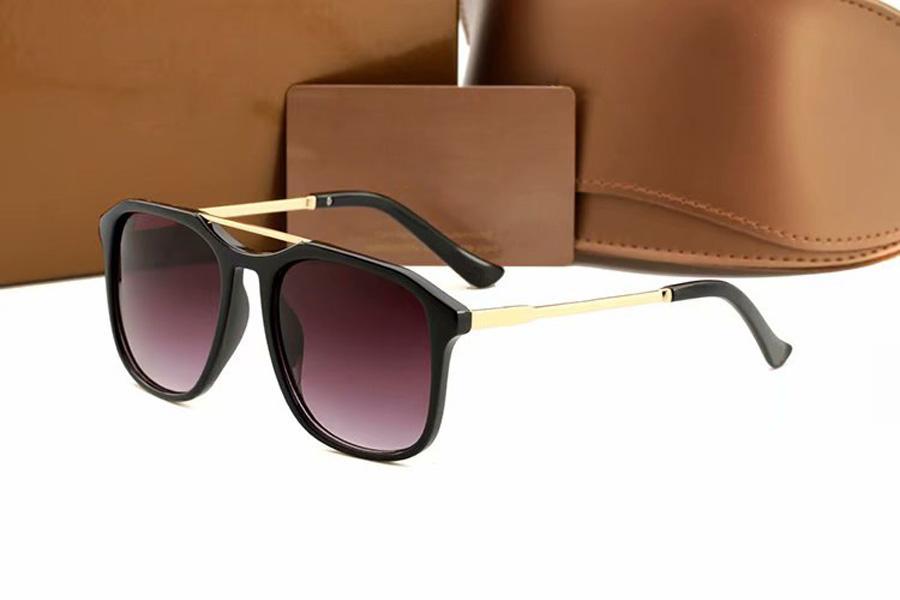 Lunettes de soleil design de femme hommes de luxe Lunettes de luxe lunettes en plein air Shades PC Cadre Mode Classic Lady Lady Sun Verre miroirs pour femme homme avec boîte