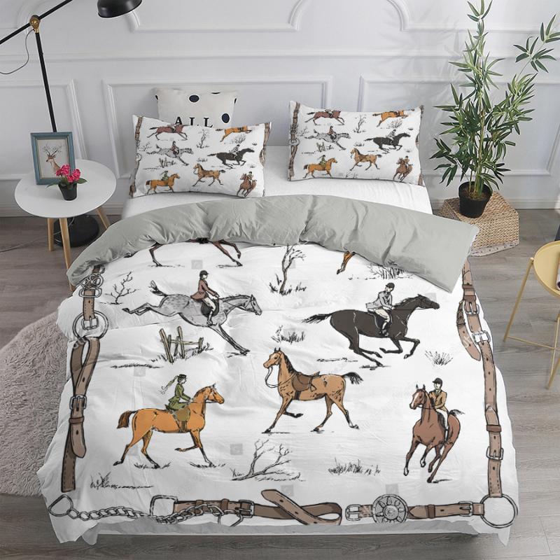 Bettwäsche-Sets Euro Luxus Duvet Cover Edle Set 240x220 Quilts Doppelkönig Königin Kissenbezüge Schlafzimmer Bettdecke