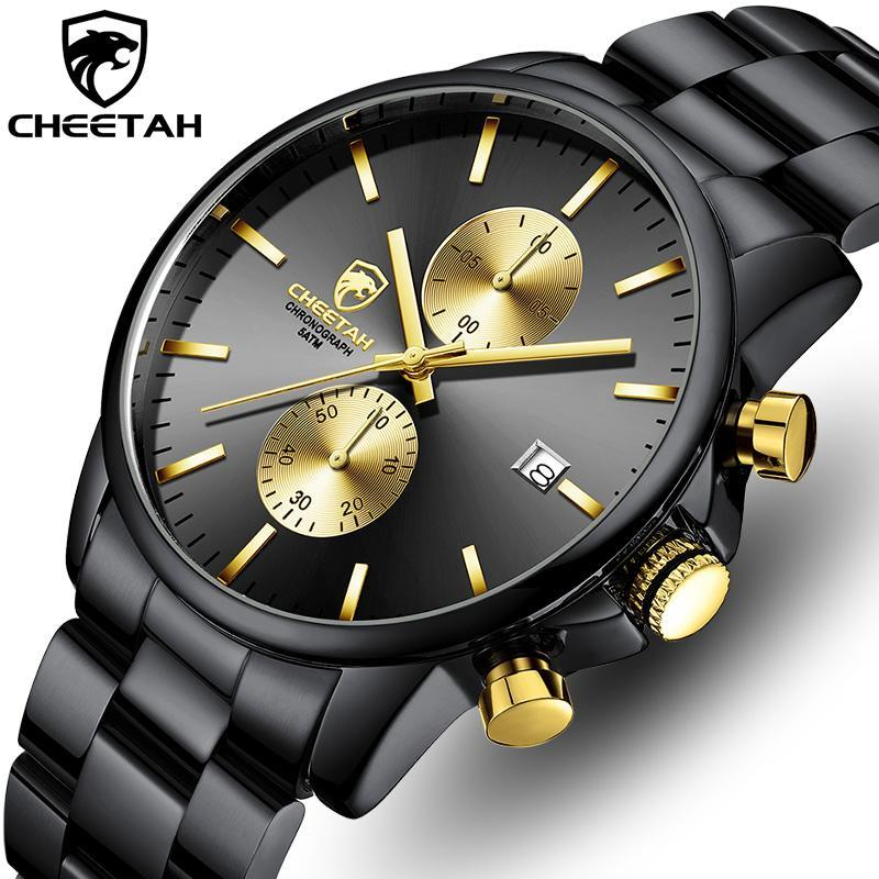 Armbanduhren 2021 cheetah top marke männer analog quarzuhr herren mode luxus chronograph sport wasserdichte armbanduhr relogio masculino