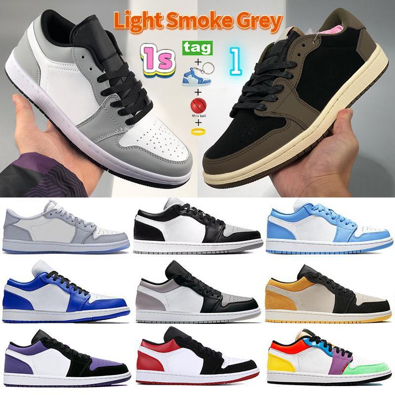 Com Keychain 1s 1 Basto Basquete Shoes Luz Fumaça Cinza Cacto Sombra Treinadores Unc Hyper Royal Laser Blue Homens Mulheres Executando Sneakers
