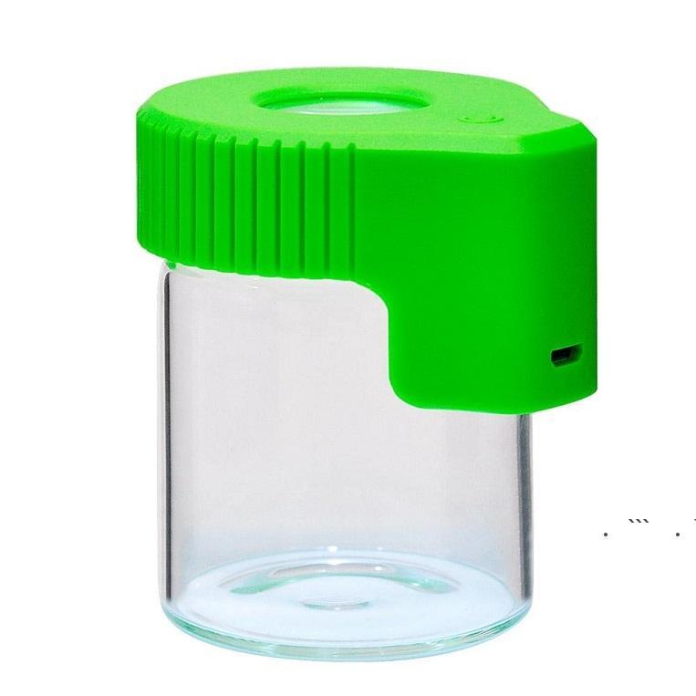 الصمام المكبرة خبأ جرة الكوكيز ماج تكبير عرض حاوية زجاج تخزين مربع usb قابلة للشحن ضوء الرائحة برهان EWF6678