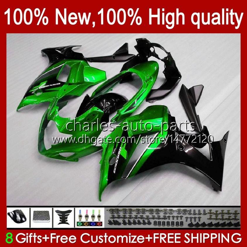 Körper für Suzuki Katana Pearl Green BLK GSXF 650 GSXF650 GSX650F Bodyworks 18HC.18 GSX-650F 2009 2009 2010 2011 2012 2013 2014 GSX 650F GSXF-650 08 09 10 11 12 13 14 Verkleidung