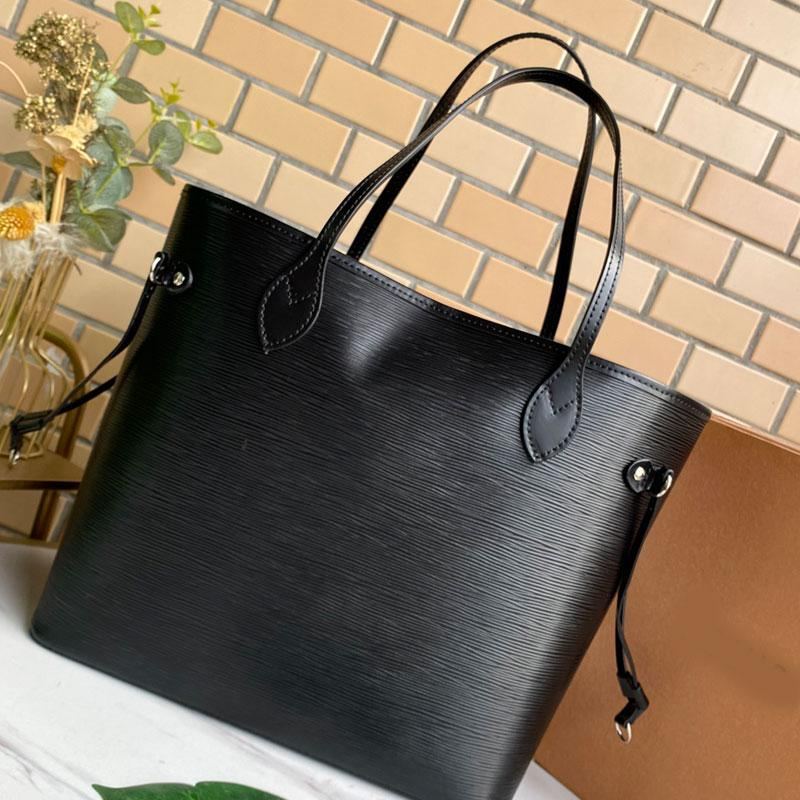 Women Handbags Wallet Tote Bag Wave Pattern Genuine Leather Shoulder Bags Fashion Letter Large Capacity Handbag Purse Lady Shopper Totes High Quality