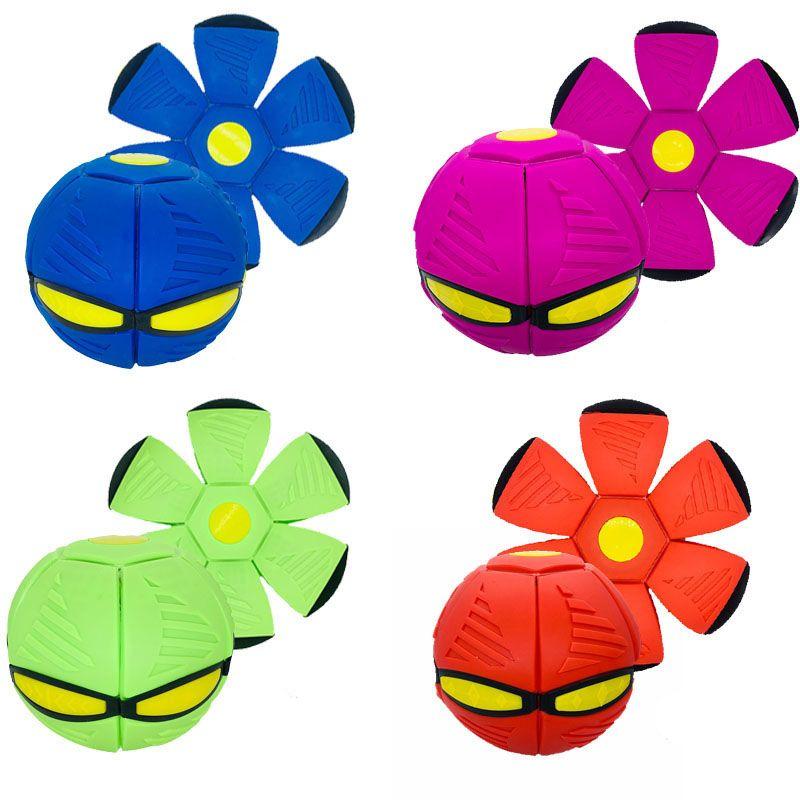 Novità volante UFO Flat Throw Disc Disc Palla da collezione Giocattolo da collezione 6 luci a LED Abbazzing Performances Fancy Soft Bambini regalo FY4556
