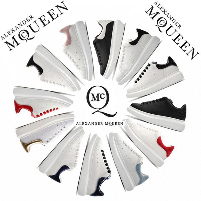 Alexander McQueen nero bianco piattaforma uomo donna scarpe da corsa rosso oro pelle di serpente Low Cut pelle scamosciata piatta uomo donna Skateboard sneakers sportive