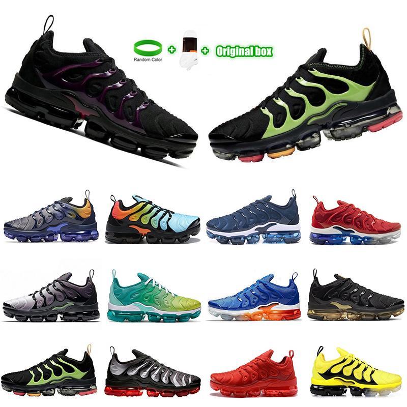 [Kutu ile] TN Artı 3.0 Erkekler Koşu Ayakkabıları Açık Mens Bayan Eğitmenler Üçlü Siyah Zeytin Suman Tüm Kırmızı TNS Spor Sneakers Overszie