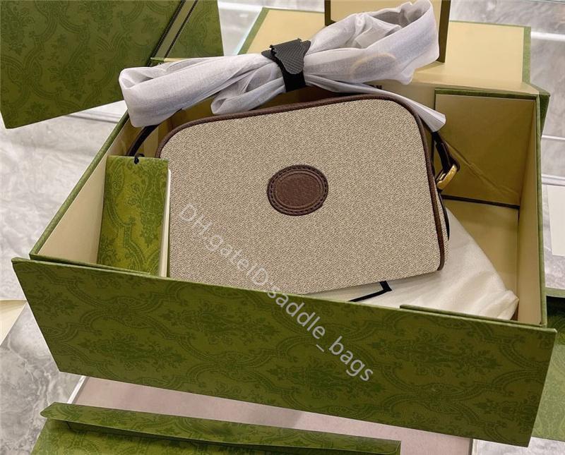 2021 Lady Fashion Handbags Totes Bolsos de hombro Ophidia Mujeres Diseñador de lujo Cuero Dibujos animados Ducto Classic Retro All-Match Casual Sencilleza Cámara Bolsa Cross Coller