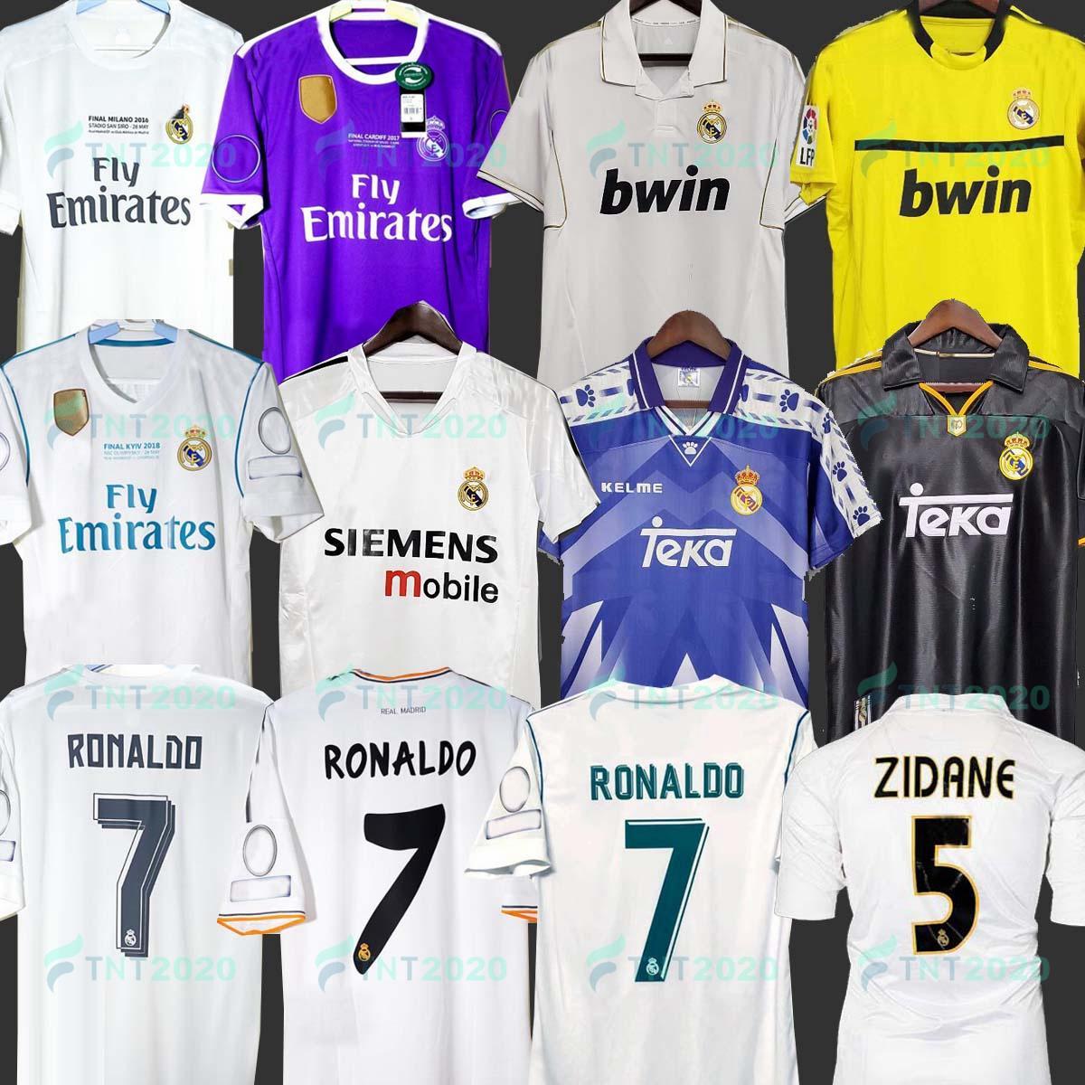 07 08 Sergio Ramos Asensio Ronaldo Retro 2013 2014 Soccer Jersey Benzema 15 16 النهائي Home 17 18 النهائي Camiseta de Fútbol