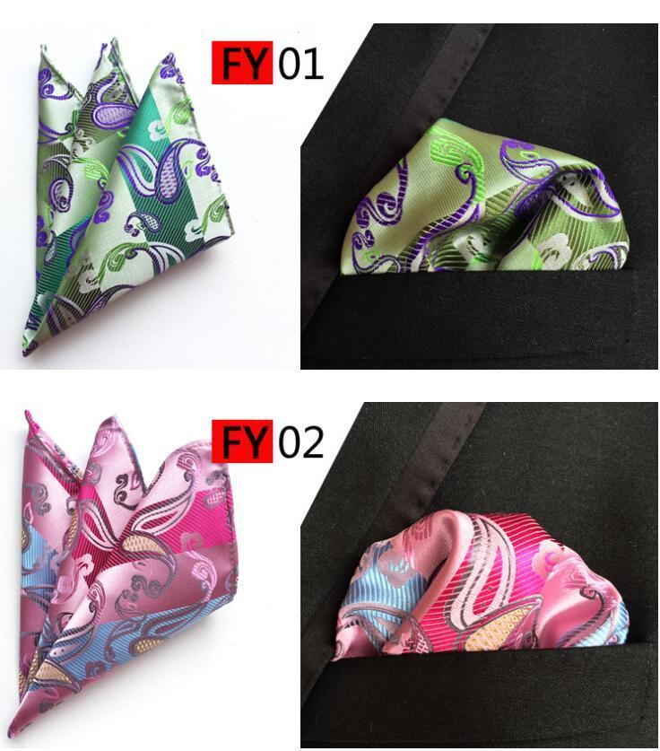 Neue Arriver Männer Paisley Krawatte Muster Tasche Square Taschentuch Seide Paisley Männer Hankies für Männer Anzug Square