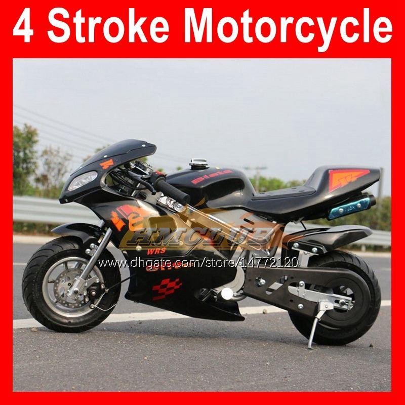 4-takt Mini Motorfiets Sport Kleine Locomotief Superbike Moto Bikes Hand Start 49CC 50cc Benzine Motobike Kart Kinderen Gift Racing Scooter 2021 Nieuwkomers