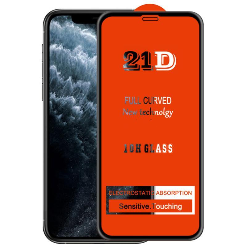 21D Full Tutkal Ekran Koruyucu Temperli Cam Premium Geçirmez Kavisli Kapsama Guard Film Kapak Kalkanı iPhone 13 Pro Max 12 Mini 11 XS XR X 8 7 6 6 S Artı SE