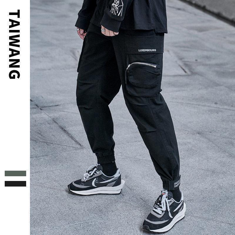 하이 츠크 남자 2021 겨울 패션 바지 여자 느슨한 한국의 streetwear 바지 남성 하라주쿠 스트레이트 힙합 의류