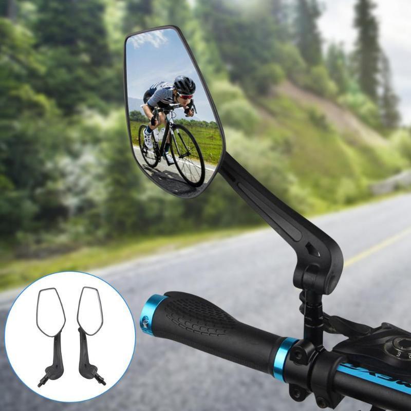 Bike GRUSETS 2 PCS Retrovisor Espelho 360 graus Rotate para MTB Bicicleta Ciclismo Acessórios Flexível Espelhos de Segurança Flexível