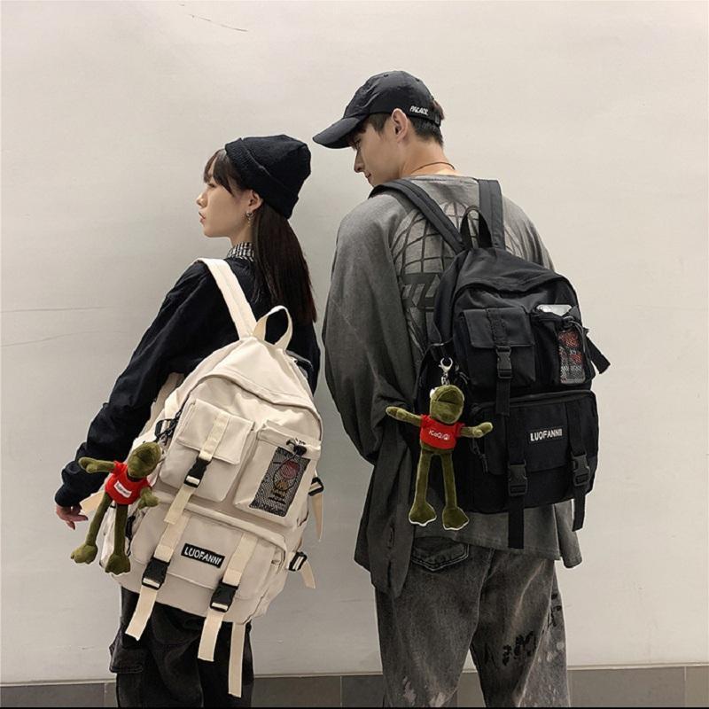 Backpack Women Boy Nylon Travel Mesh Female Student College School Bag Men Girl Cool Laptop Male Fashion Book Bags Lady