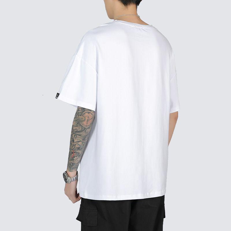 T-shirt allentata Coreana Summer Youth Gioventù popolare New Men's Street Round Neck Semi Versatile Manica Casual
