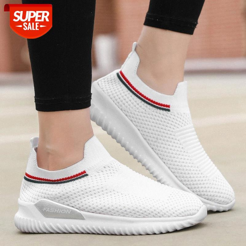 Zapatillas de Deporte para Mujer Calzado de Gimnasia Calzado Ligero para Correr Calcetines c/ómodos y Transpirables Calzado sin Cordones Senderismo al Aire Libre Calzado con cu/ña