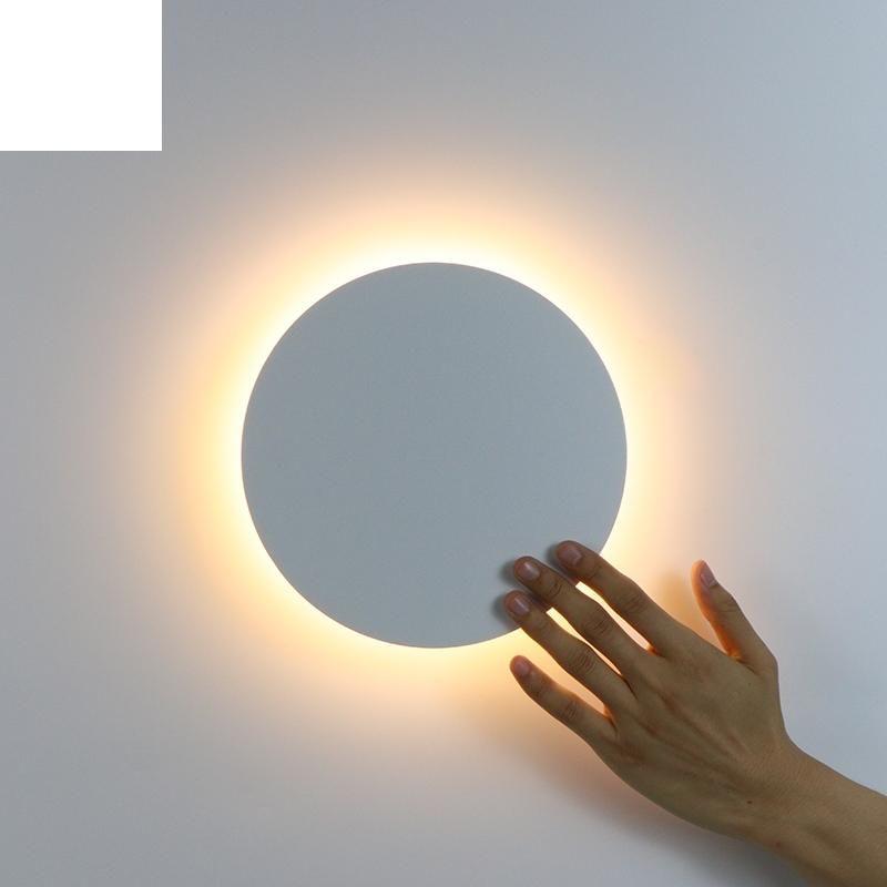 벽 빛 터치 스위치 침실 침대 머리맡 램프 실내 계단 조명기구 철 및 아크릴 재료 11W