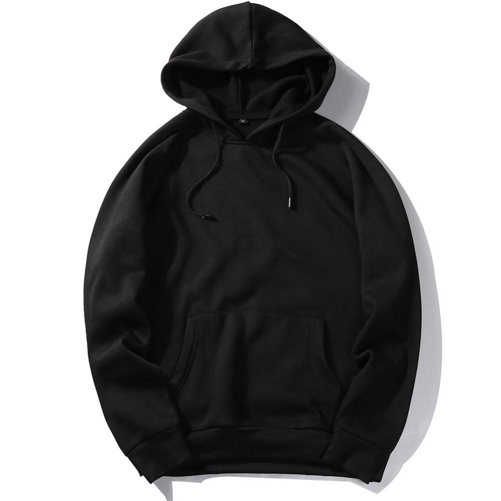 EE.UU. Tamaño Moda Poliéster Color Hoides Men's Thick Ropa Sudaderas Hombres Hip Hop Streetwear Solid Fleece Hoody Hombre Hombre