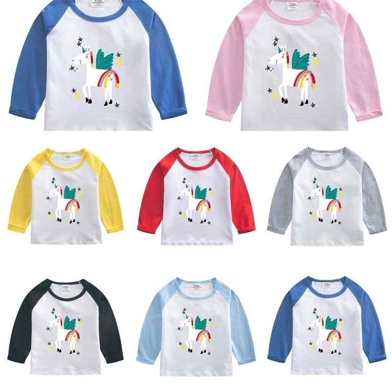 Spring Autumn Children's Clothing Long Sleeve T-shirt Pullovers Cartoon Printed Girls Boys Cotton Patchwork Hoodies Tops Sweatshirts G4Y1RJ8