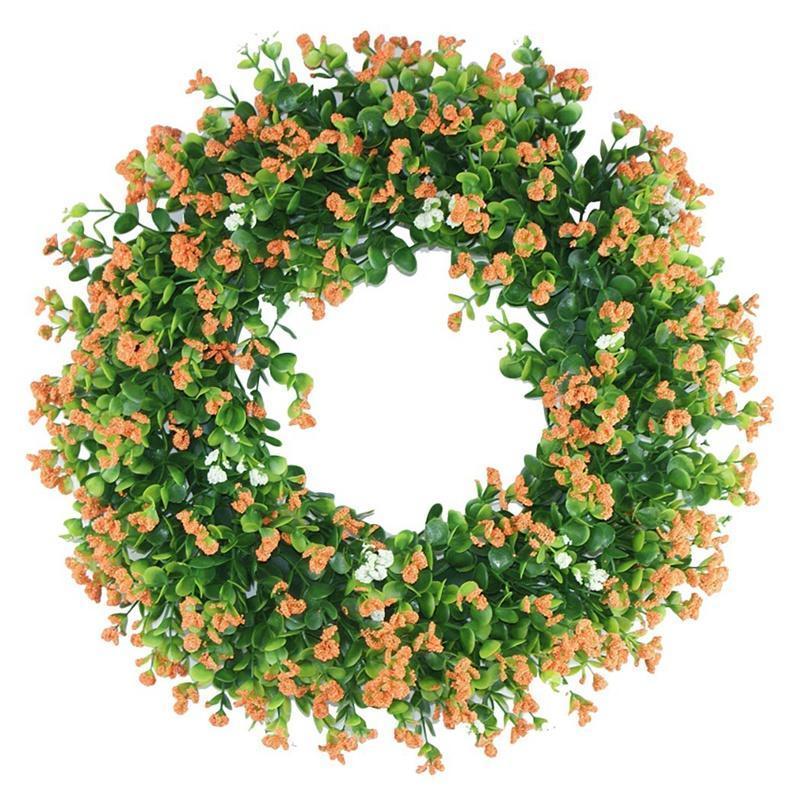 Dekorative Blumen Kränze Eukalyptus Kranz Frühling für Haustür Wandfenster Hochzeit Garten Büro Küche Bauernhaus Wohnkultur