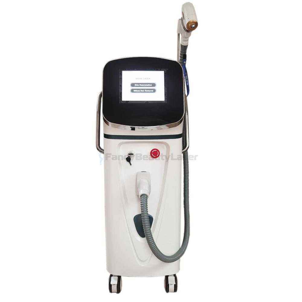 2021 New Profession 808nm Diode Laser Machine for Hair Removal Skin Rejuvenation 808nm Laser Hair Removal Machine wavelengt equipment 300W 500W Support